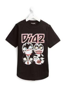 rockstar face print T-shirt