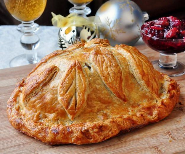 Cranberry Hazelnut Turkey Wellington | Leftover Turkey? These 16 delicious and completely different recipes of turkey will make your family ask for more! From Refreshing Salad Recipe to a Marvelous and Mouth Watering Cheesy Pizza Recipes! Check it out at HomemadeRecipes.com
