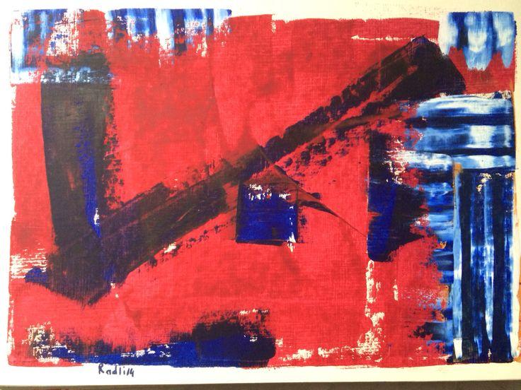 Radli Miner. Oil on paper 30/40 cm.