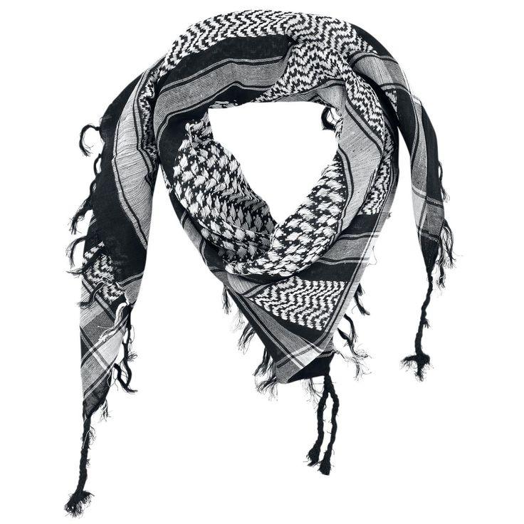 Keffieh  Le keffieh PLO est un accessoire très tendance qui rend n'importe quelle tenue plus décontractée. Le keffieh est très tape à  l'oeil grâce à son mélange de couleurs contrastées et il vous gardera au chaud pendant les journées les plus froides. Dimensions : env. 100 x 100 cm.