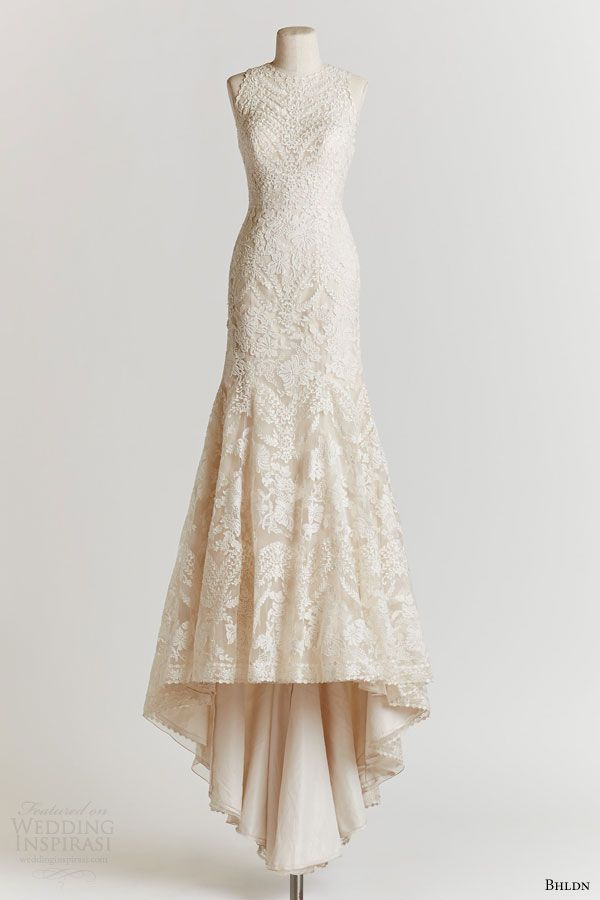 bhldn spring 2015 adalynn high neck sleeveless lace #wedding dress #mermaidweddingdress #weddingdress #weddings