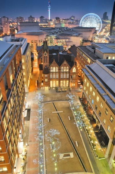 Oozells Square, one of my favourite places to visit in Brum at night. Lovely bars around the corner but this is a little oasis of beauty, even at 2am just off Broad St. Also, the name is awesome!