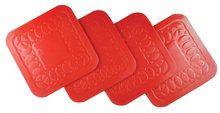 Tenura Anti Slip Silicone Rubber plein Coaster (pak van 4) (VM989R)