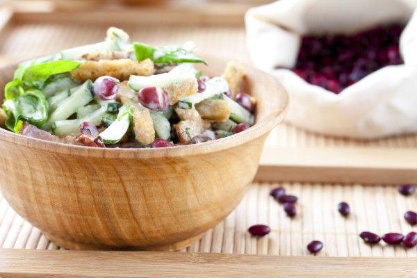 Рецепты салатов с фасолью и кукурузой