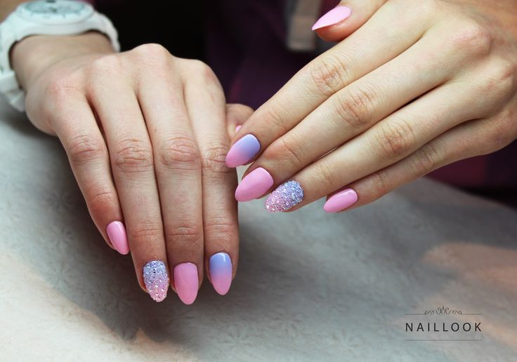 Swarovski Ombre nails www.naillook.pl