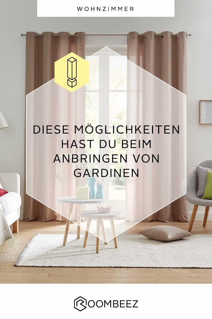 Gardinen aufhängen » Tipps und Möglichkeiten | Roombeez ...