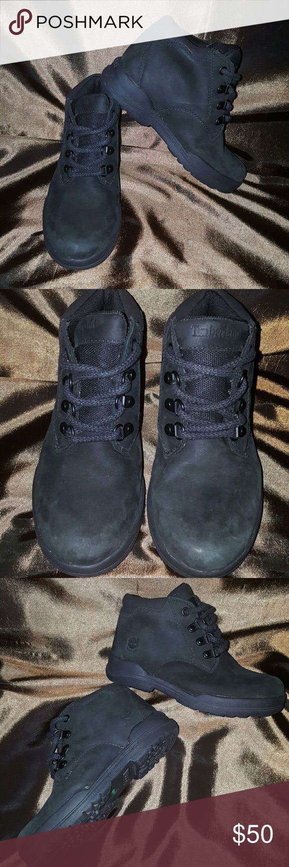 Timberland Earthkeepers Black Timberland boots,  loop laces, toe area does show normal wear. Timberland Shoes Boots