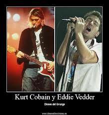 La ideología del grunge fue creada a partir del pensamiento de las figuras de los músicos del género. Ideales que destacaban dentro de la actitud y las letras de éstos. El foco principal fue la figura de Kurt Cobain, destacando también Eddie Vedder (Pearl Jam) o Layne Staley.
