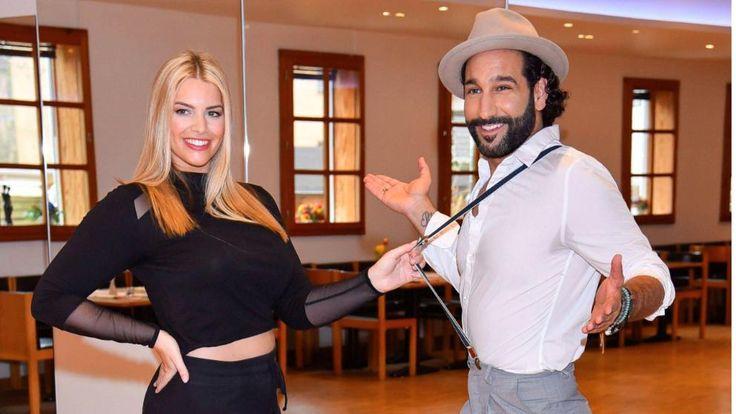 Curvy-Model Angelina Kirsch und ihr Tanzpartner Massimo Sinato