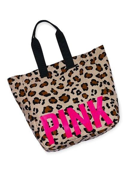 VS PINK Leopard Print Tote