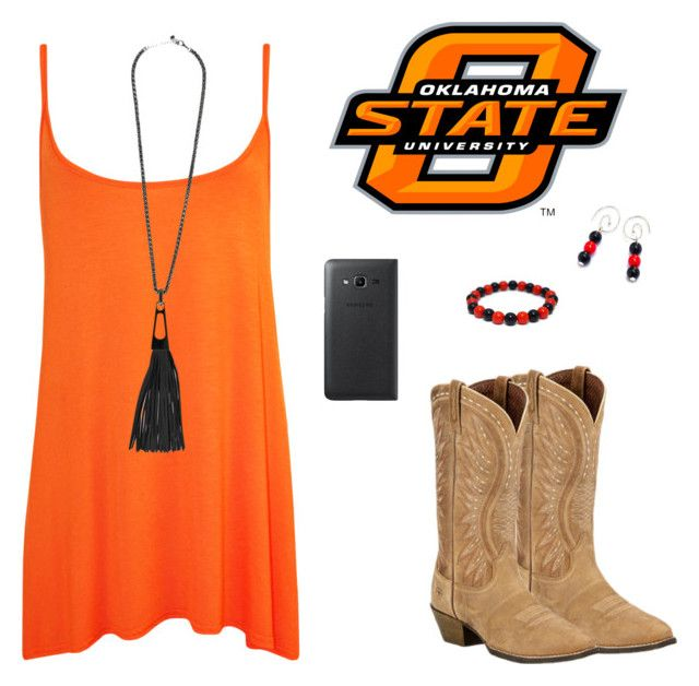 Game Day Style - Oklahoma State University Cowboys by carriefdix on Polyvore featuring WearAll, Ariat and Samsung