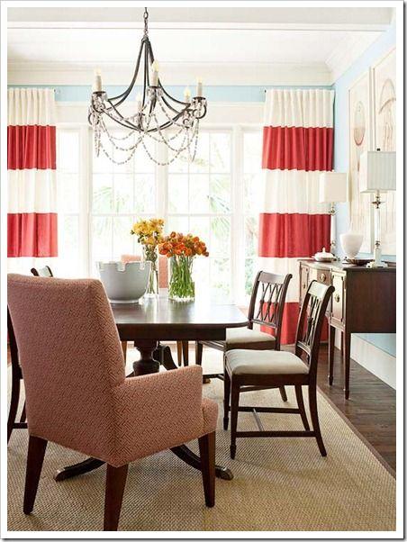 Im Seeing Stripes Stripe CurtainsBold CurtainsHorizontal Striped CurtainsWhite CurtainsDining Room
