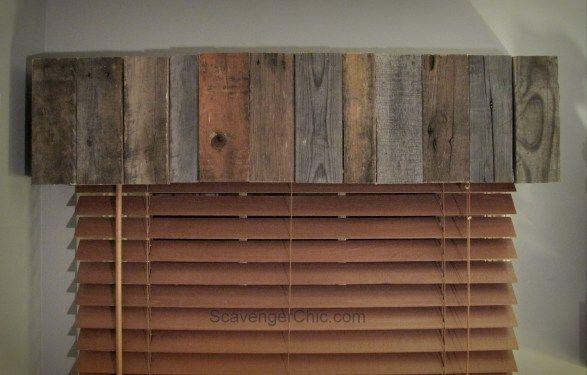 Easy Pallet Wood Valence diy