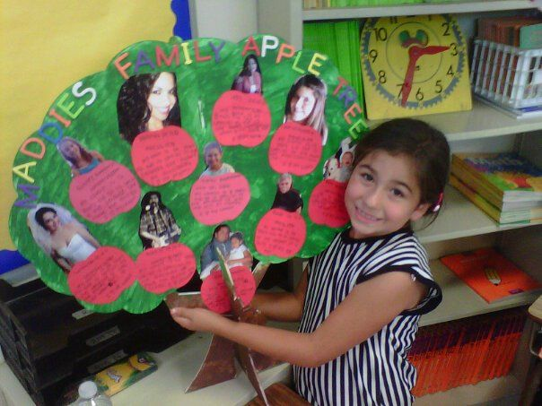 my granddaughter maddie with her family tree project at