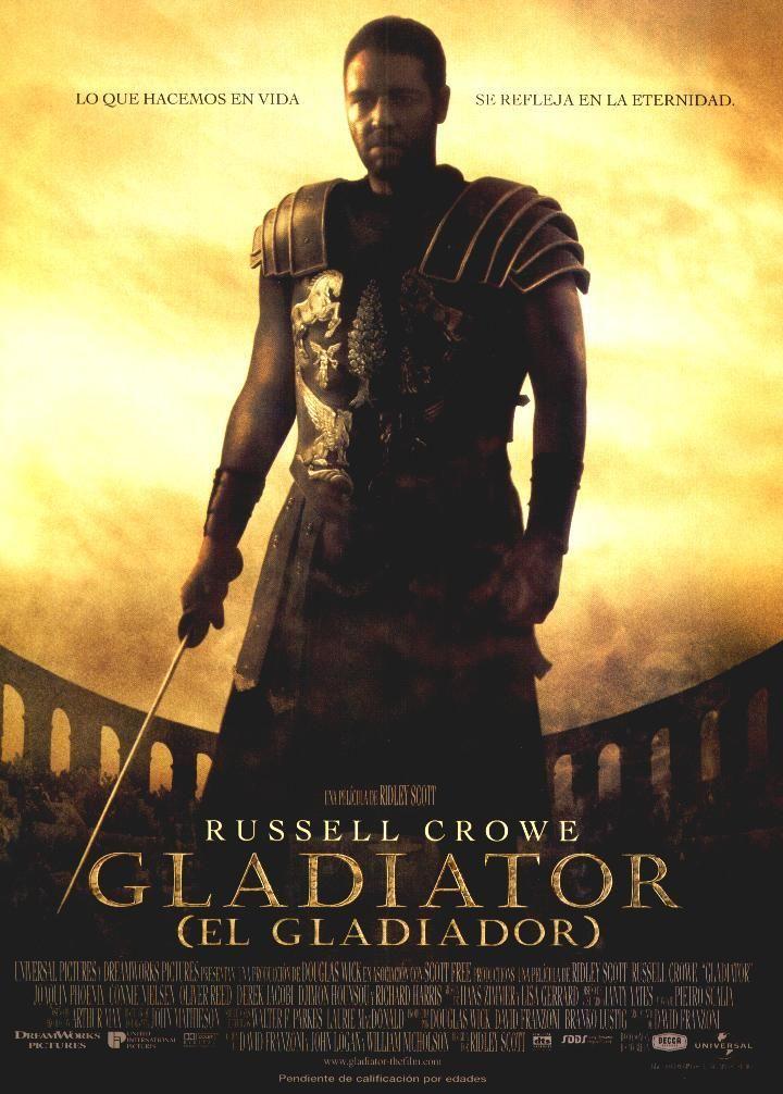 DVD CINE 1616 -- Gladiator (2005) EEUU. Dir.: Ridley Scott. Acción. Aventuras. Antiga Roma. Cine épico. Sinopse: un xeneral romano no que o Emperador confía para ser o seu herdeiro é traizoado polo fillo deste para que morra xunto coa súa familia. O xeneral logrará escapar e converterase nun gladiador con ganas de vinganza.