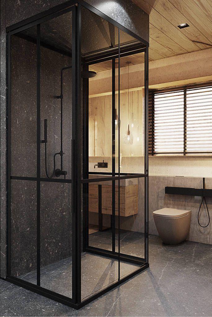 Bielsko-Biała, dom - 230m2 : Modernistyczna łazienka od razoo-architekci
