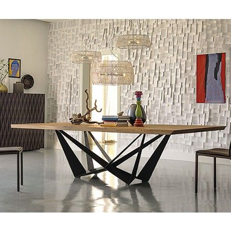 cattelan italia skorpio rectangular wood table £4343 240 x 120 or 300 x 120