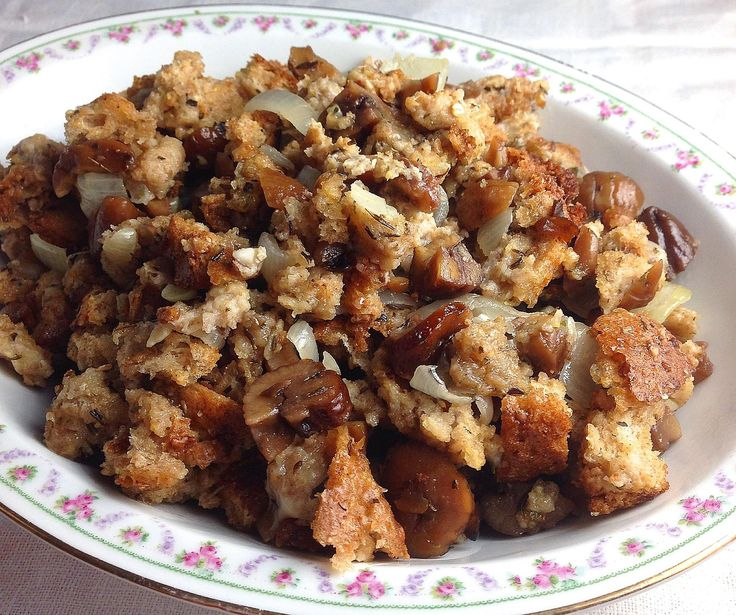 This traditional and delicious Chestnut Stuffing recipe combines rich nuts with onion and herbs, then bakes in the turkey to perfection.