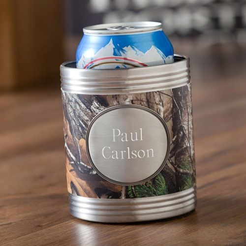 Real Tree Camo Koozie with Pewter Medallion