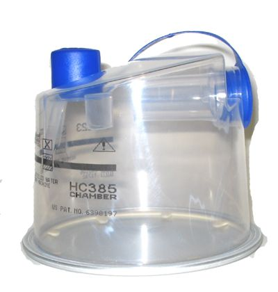 Fisher & Paykel HC385 disposable humidifier chamber  The HC385 water chamber from Fisher & Paykel replaces the discontinued HC345 water chamber. Its design is similar to the HC345 except with sleeker styling. The HC385 should be used for all Fisher & Paykel CPAP systems HC201 and HC234. The chamber should last approximately 6 months provided the water you utilize is distilled water. The HC385 has two ports -- one located on the side and one positioned on the top of the chamber…