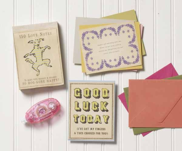 Rick says: 150 Love Notes is a perfect stocking stuffer. Or, make it a gift by adding cards and envelopes in a variety of colors, a tape runner and refill. The notes are great for DIY cards.