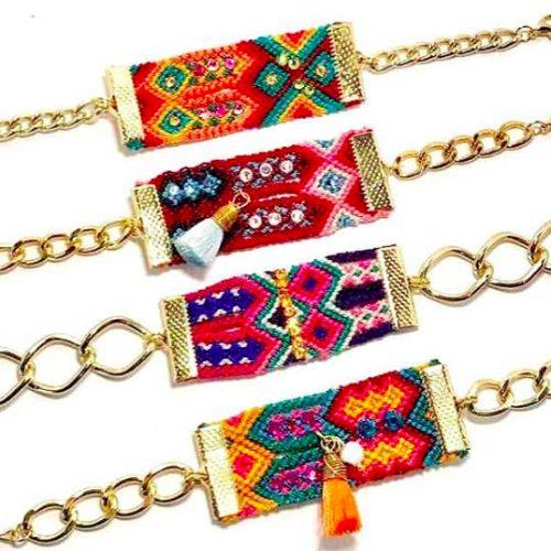 Colección de pulseras ''a la mexicana'' de la marca ay Maria joyería