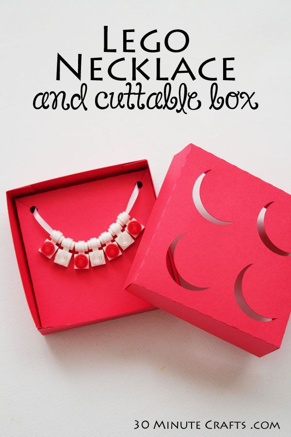 Lego Necklace and cuttable jewellery box. Perfect Idea for the girls for the B-day party