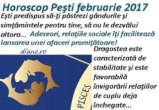 diane.ro: Horoscop Peşti februarie 2017