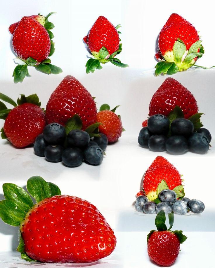 strawberry, blueberry