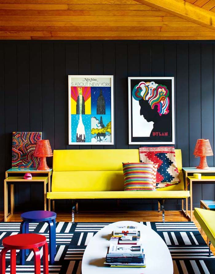 love the pops of colour, inside out magazine