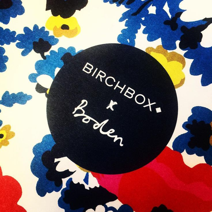 My April #BirchboxUK arrived today! I'm probably going to keep the adorable pattered box to keep jewellery in and I'm really looking forward to trying the products out.  #BirchboxXBoden #beautybox #subscription