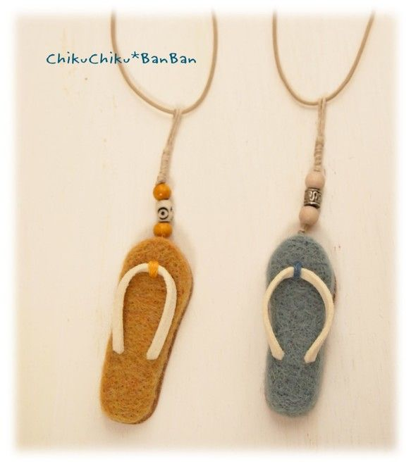 Пляжные сандалии Кулон желтый | ожерелье кулон | chikuchikubanban | ручной…