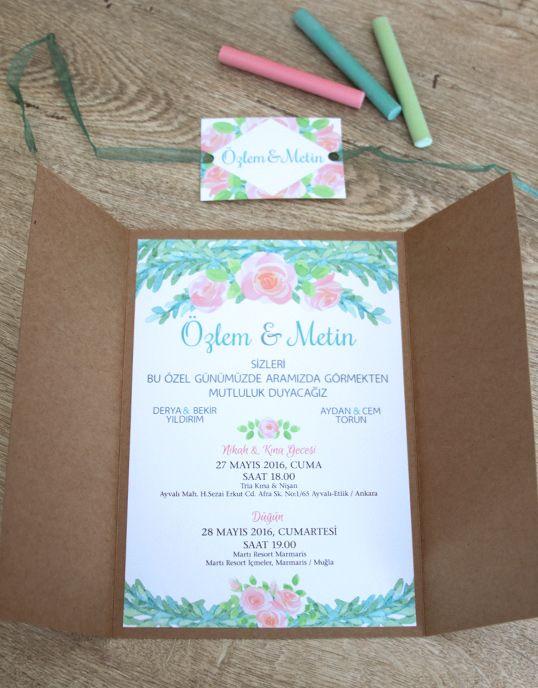 Lovely Colors, özel tasarım düğün davetiyesi. www.lovely-colors.com iletisim@lovely-colors.com +90 533 473 73 36 İlkbahar ve yaz düğünleri için, aşkın simgesi güllerle süslediğimiz pembe ve yeşil ağırlıklı, pastel renklerdeki davetiye modeli. // Pink and green colored wedding invitation decorated with roses, symbol of love, for spring and summer weddings.