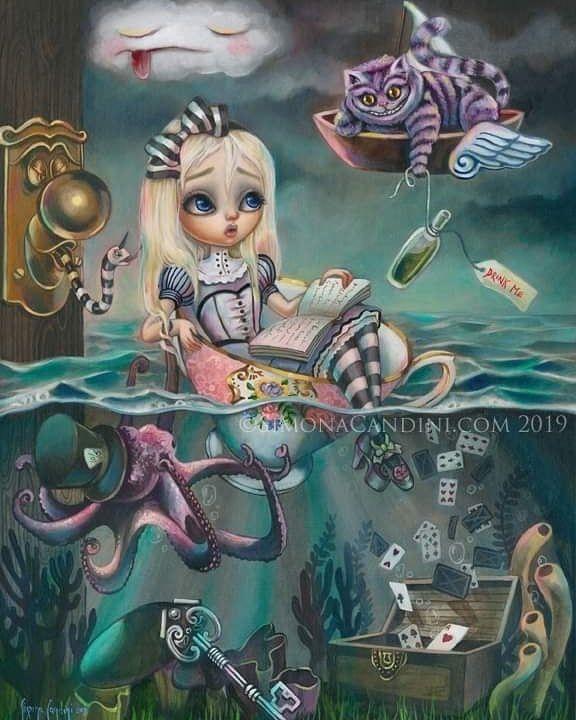 "2,175 Likes, 9 Comments - Alice in Wonderland (@aliceinwonderlandlc) on Instagram: ""In the pool of tears . .… | Art, Alice in wonderland series, Alice in wonderland"