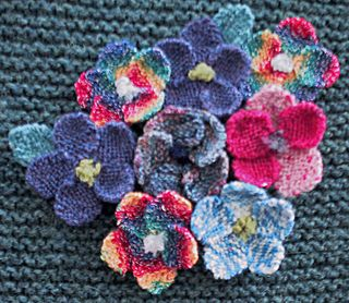 Self-patterning or handpainted yarn.