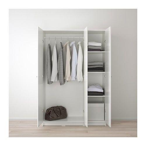 Bygstad Wardrobe White Ikea Furniture Clothes Drawer Organization