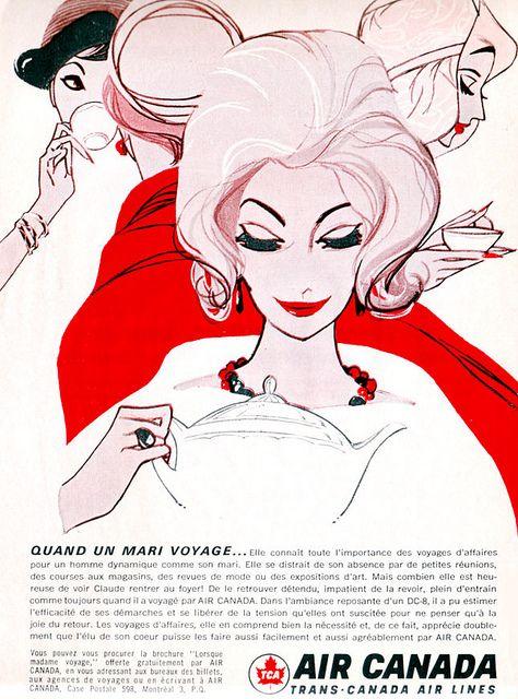 Air Canada ad, 1964