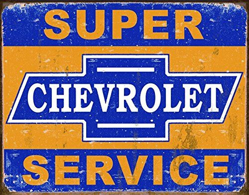 Super Chevy Service Tin Sign 17 x 13in- Made In The USA