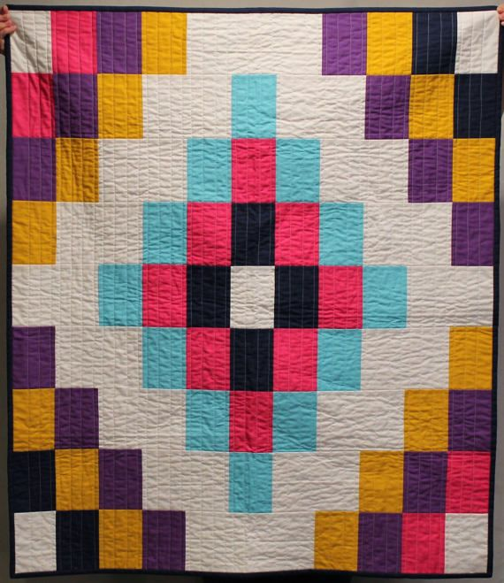 Colorful Tiles Quilt Pattern Baby Quit by HappyCloudCreations