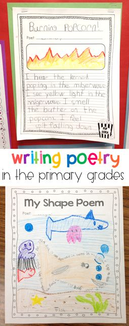 These poetry lessons and activities are perfect for first and second grade students to begin writing poetry on their own. Students practice writing free verse as well as form poetry with a little guidance!