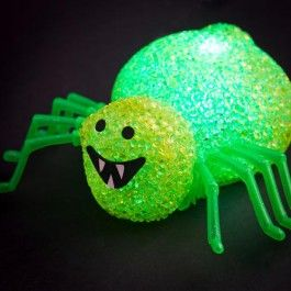 this light up spider makes a creepy and colourful halloween party decoration requires 3 x - Light Up Halloween Decorations