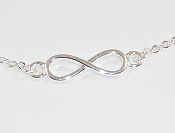 Infinite Bracelet Pre Teen Gift Silver 925 Plated Chain Bracelet Ankle chain bracelet Infinity Pendant Silver Jewellery Anniversary Gift de Mainashiki en Etsy