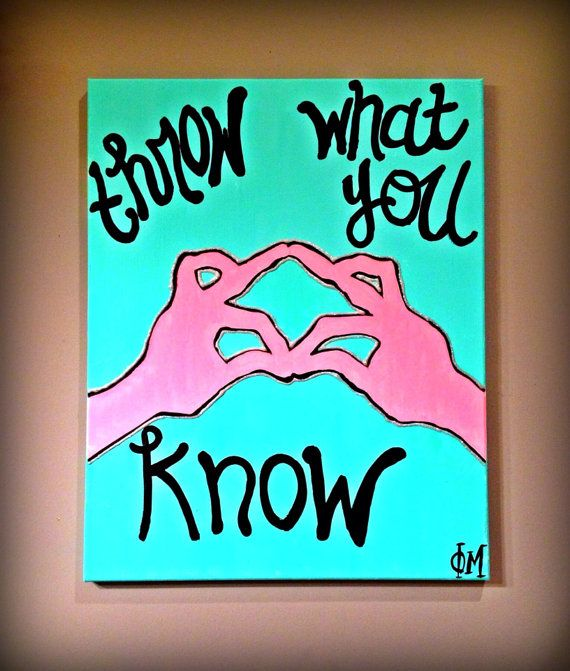 Phi Mu Letters Canvas by AKissofCotton on Etsy, $22.00