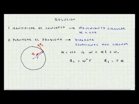 Problema Aplicacion Movimiento Circular
