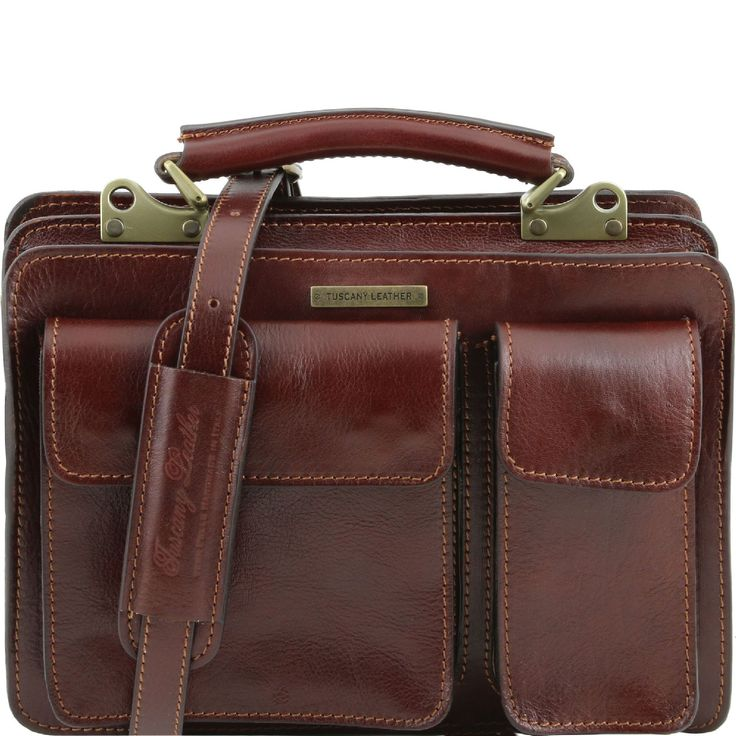 Tuscany Leather - Serviette cuir- Marron - Homme: Amazon.fr: Bagages