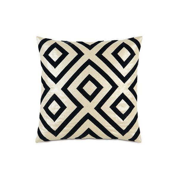 Scalamandre Tribal Diamond Decorative Pillow - Frontgate ($239) ❤ liked on Polyvore featuring home, home decor, throw pillows, tribal throw pillows, frontgate, arrow home decor, zebra throw pillows and tribal home decor