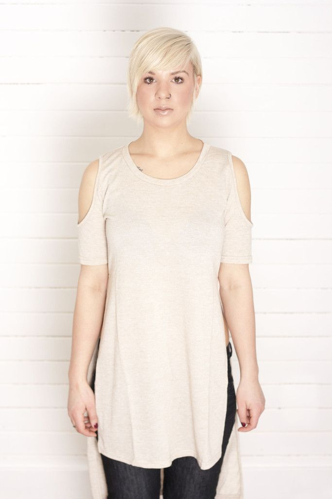 Peek a Boo High Low Tunic available at Missmodern.ca