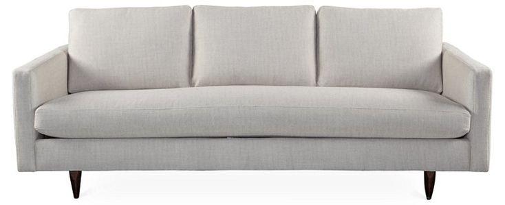 "Anniston 84"" Sofa, Platinum - Sofas & Settees - Living Room - Furniture | One Kings Lane"