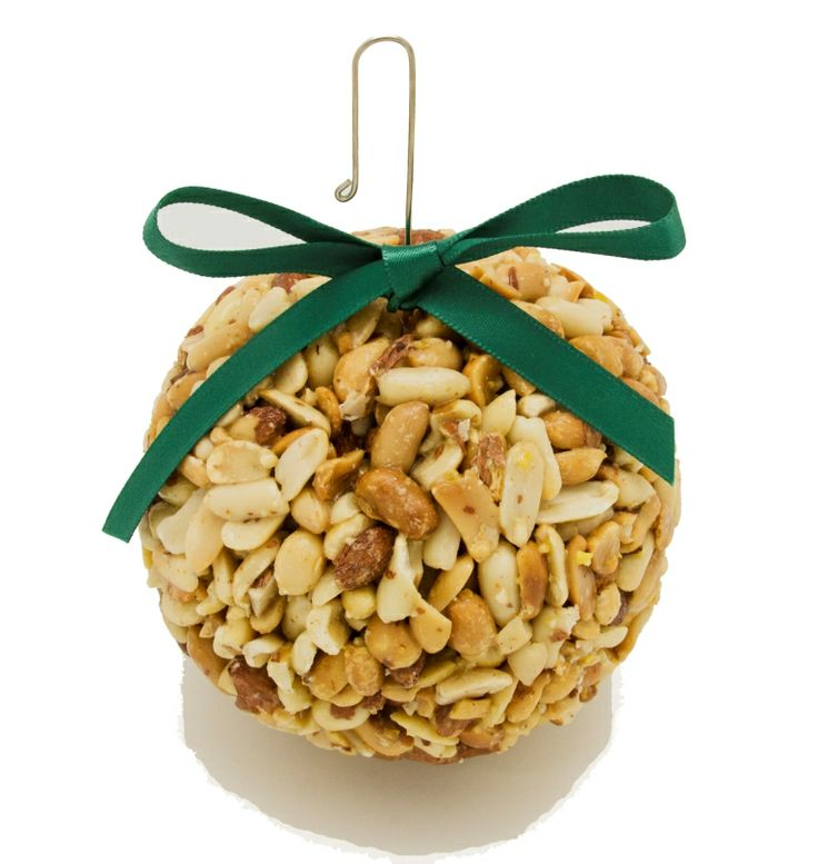 """XP Peanut Globe. Comes with metal hook for hanging and decorative ribbon. Approximately .8lbs. in weight and Approximately 4"""" diameter."""