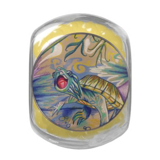 Snapping Turtle Glass Jar #turtle #candy